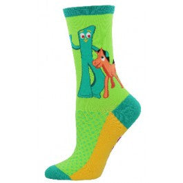 Gumby and Pokey (Lime) Women's Crew Sock
