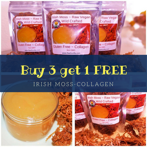 Nature's Botox Collagen~RAW Irish Moss (Sea Moss) ~ Buy 3 GET 1 FREE ~