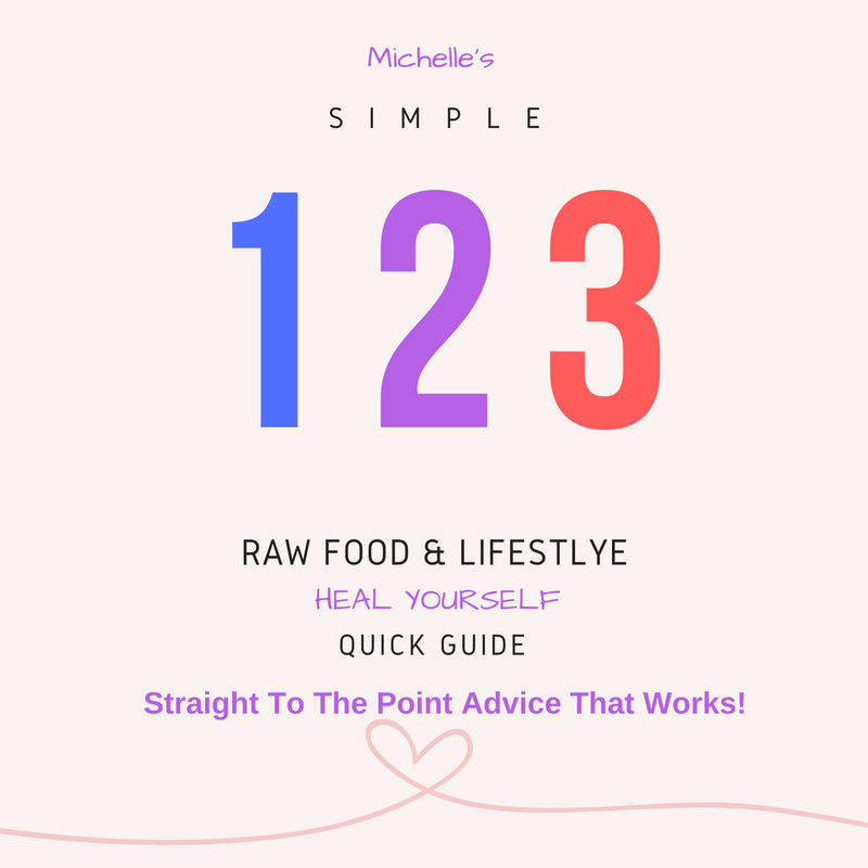 Simple 123 Raw Food & Life Style * Heal Yourself* Quick Guide e-Book