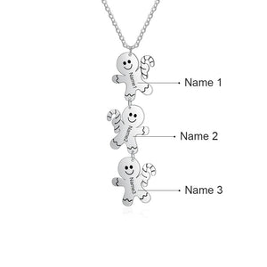 LIMITED TIME ONLY XMA5822 Gingerbread Man Pendant Necklace