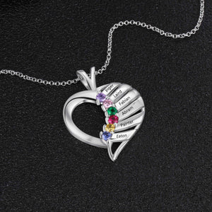 NEC3141 - Elegant Heart Necklace - 6 names