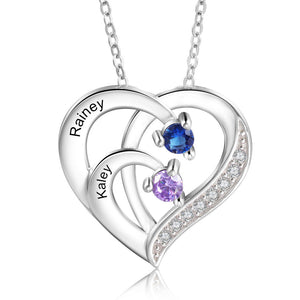 NEC4215 Heart Necklaces 2 Names