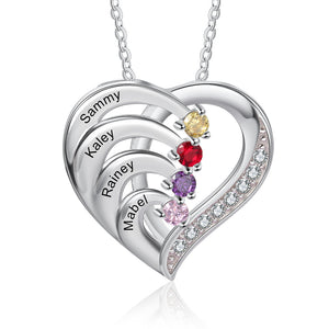 NEC4217 Heart Necklaces 4 Names