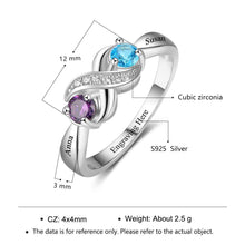 Load image into Gallery viewer, RIN3265 - Infinity Heart Shape Promise Ring