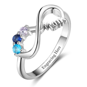 RIN3300 - Infinity Shape MOM Ring