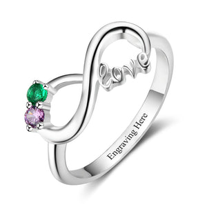 RIN3302 - Infinity Shape Love Promise Ring