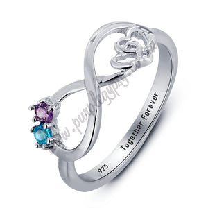 RIN1783 - Infinity Heart Shape Promise Ring