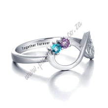 Load image into Gallery viewer, RIN1783 - Infinity Heart Shape Promise Ring