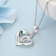 Load image into Gallery viewer, NEC4198 Double Heart Necklace
