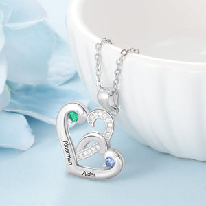 NEC4198 Double Heart Necklace