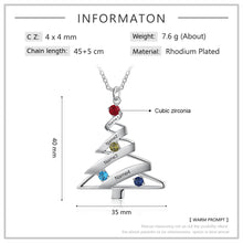 Load image into Gallery viewer, LIMITED TIME - XMA5952 Christmas Tree Necklace Custom Engraved Family Names