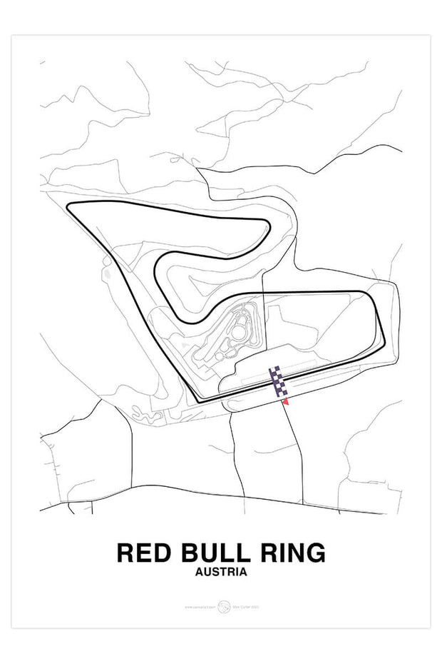 Red Bull Ring Track Poster