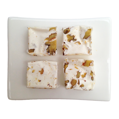 Nougat squares with walnuts throughout