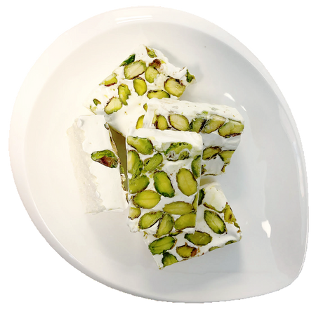 Nougat with pistachio and rosewater