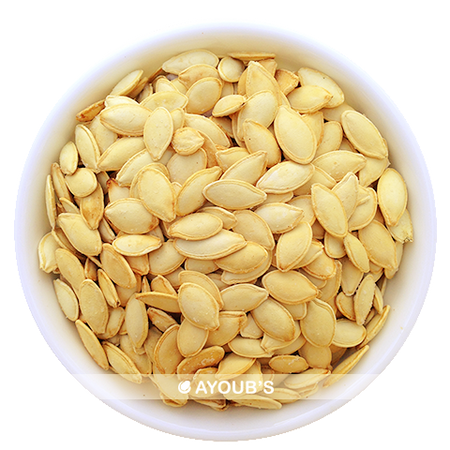 Pumpkin seeds roasted in the shell with light salt