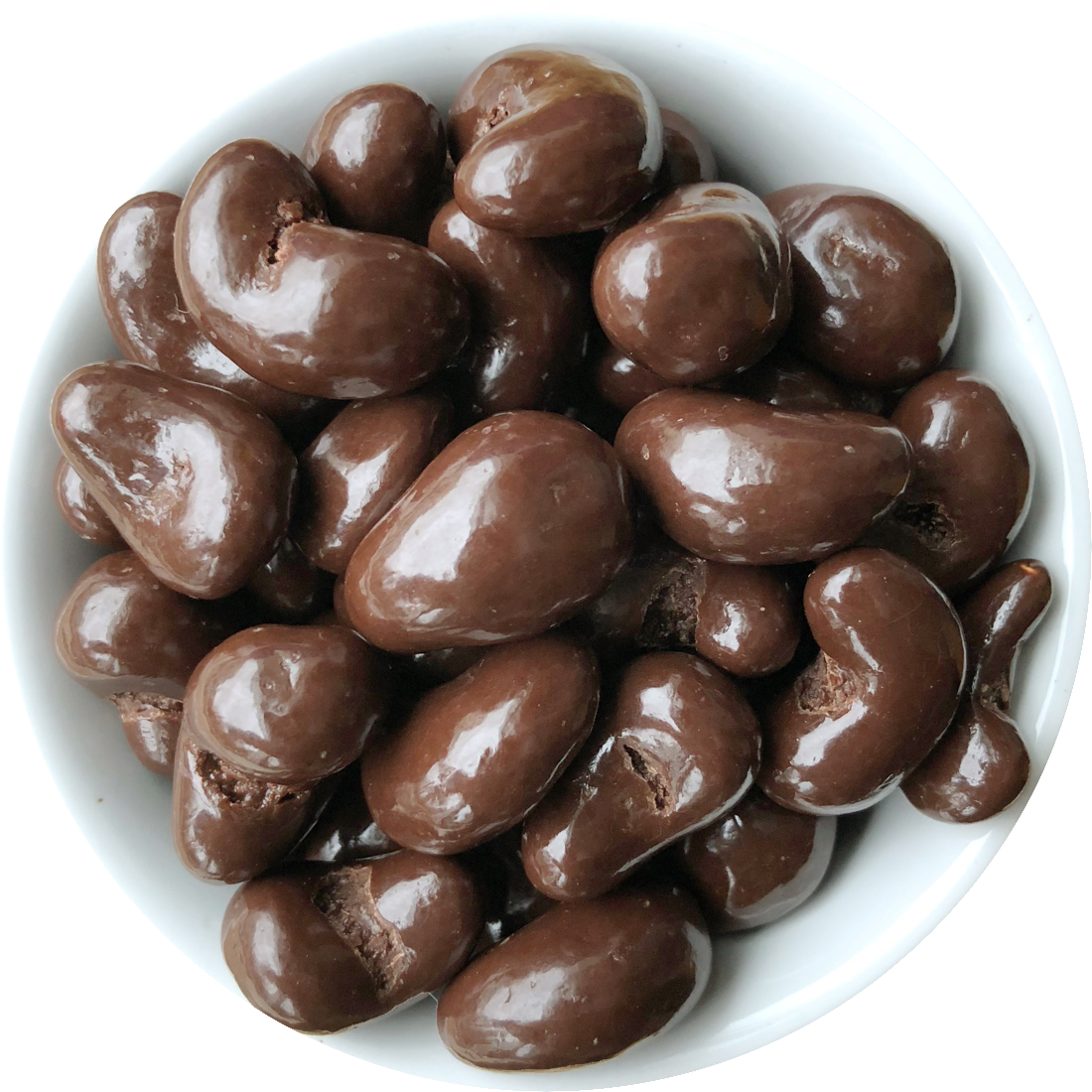 Cashews in dark chocolate with sea salt