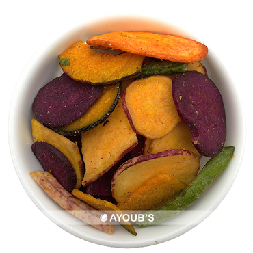 Vegetable Chips - Purple Yam, carrots, green beans, squash, sweet potatoes, taro