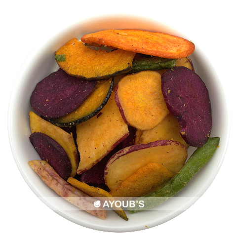 Vegetable Chips - Beets, carrots, green beans, squash, sweet potatoes, taro