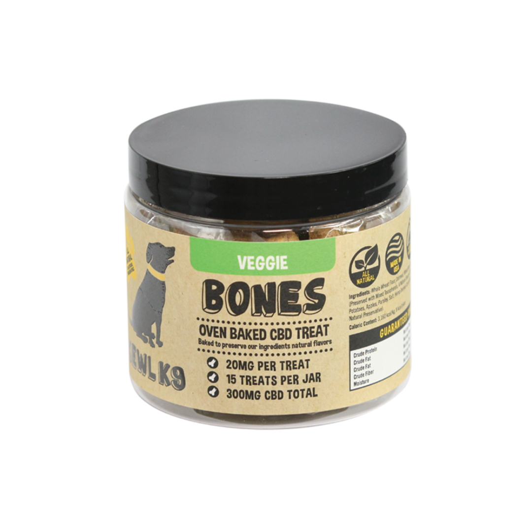 Kewl K9 | CBD Dog Treats | Veggie Bones 300mg