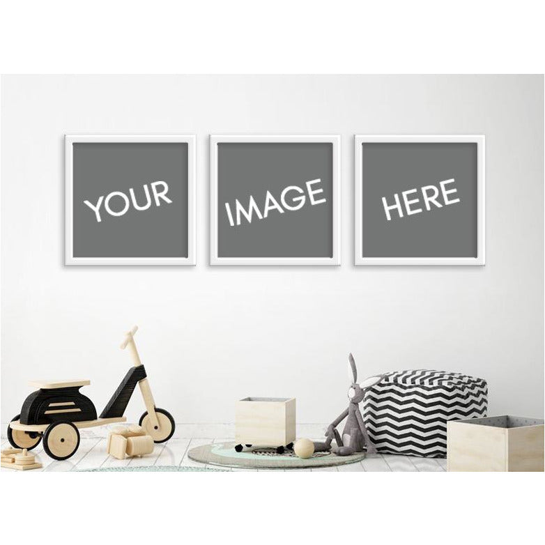 Custom Image - Set of 3 (Square) Framed