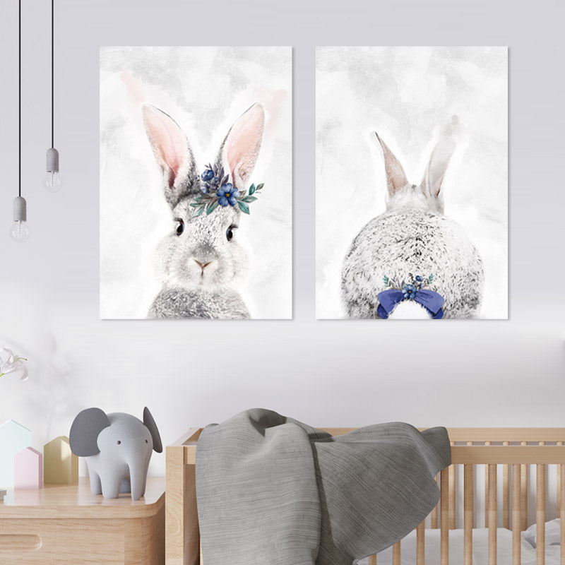 Grey & Purple Bunny freeshipping - Beautiful Spaces Store