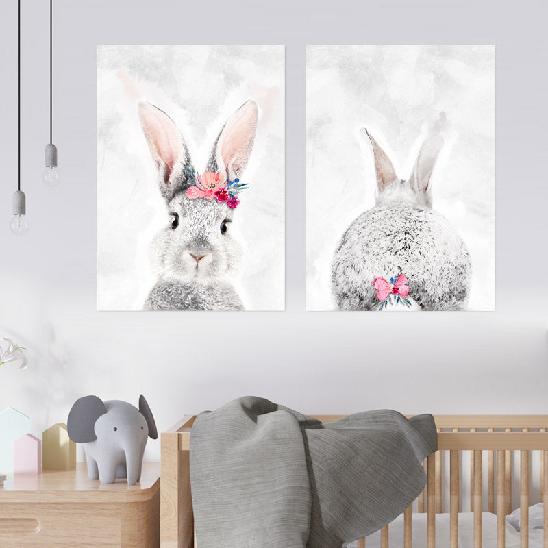 Grey & Pink Bunny freeshipping - Beautiful Spaces Store