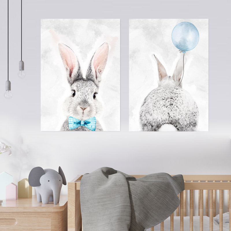 Grey & Blue Bunny freeshipping - Beautiful Spaces Store
