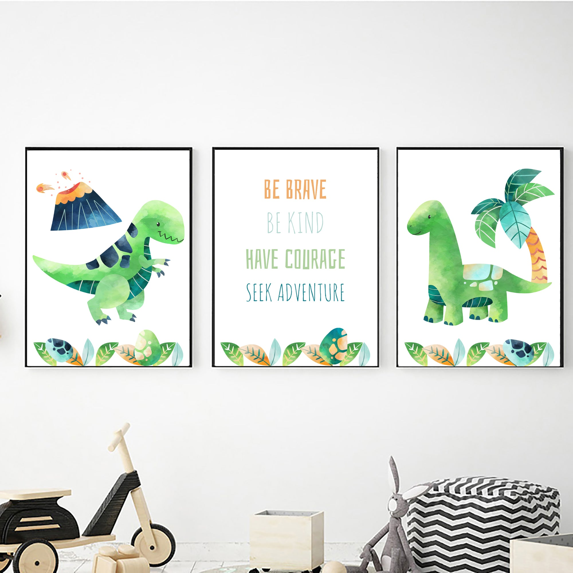 Dinosaur Be Brave freeshipping - Beautiful Spaces Store