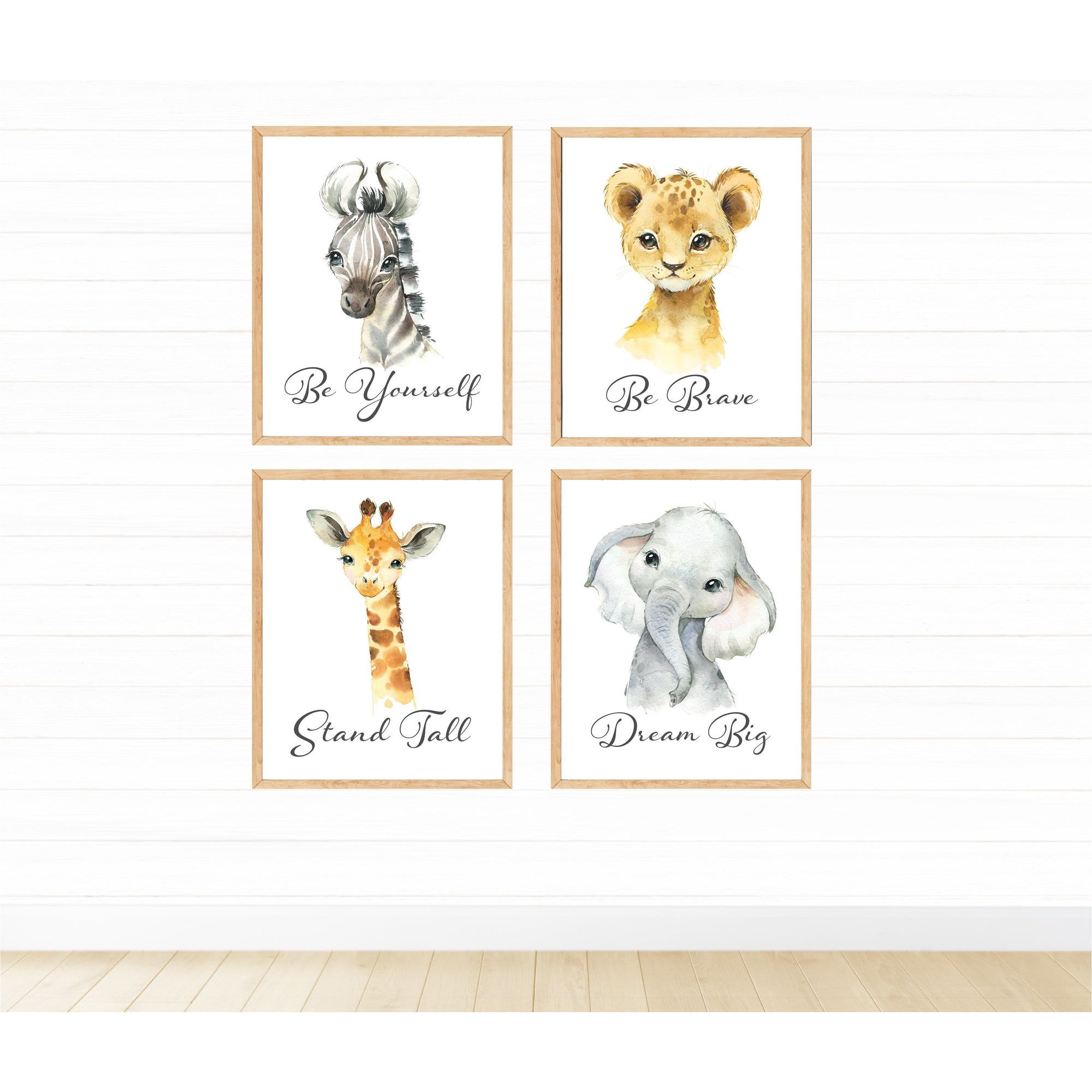 Safari Animals Be Yourself freeshipping - Beautiful Spaces Store