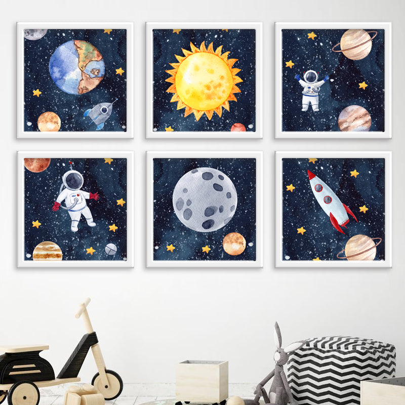 Sun Earth Moon Space - Set 6 freeshipping - Beautiful Spaces Store