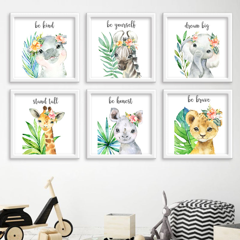 Safari Animals Be Bold with Leaves freeshipping - Beautiful Spaces Store