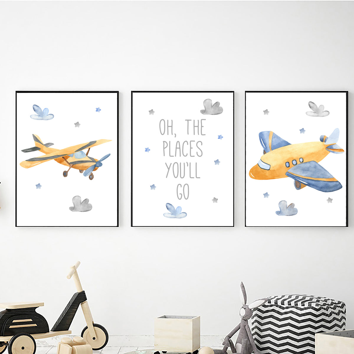 Airplane Oh the Places You'll Go freeshipping - Beautiful Spaces Store