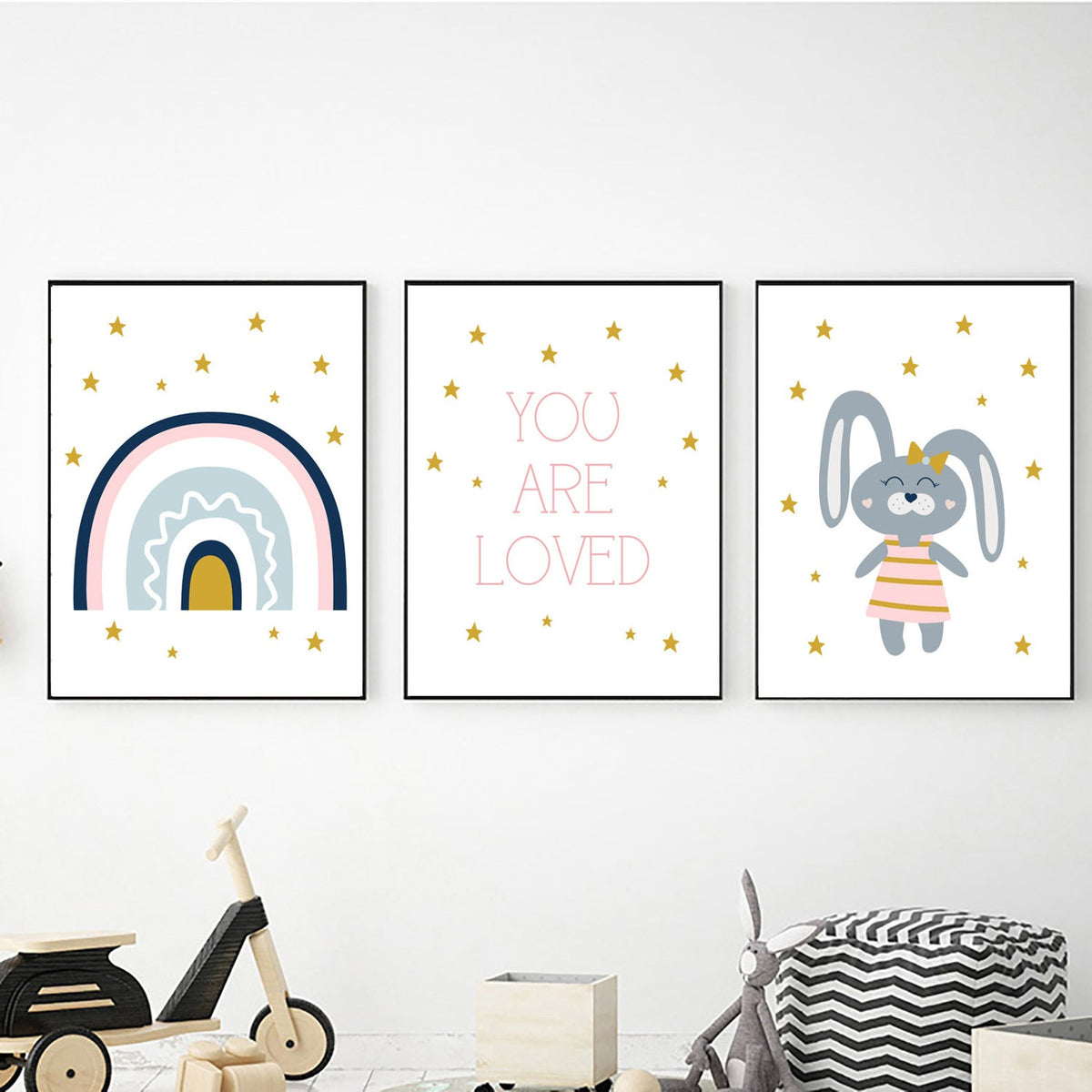 Bunny Rainbow You are Loved freeshipping - Beautiful Spaces Store