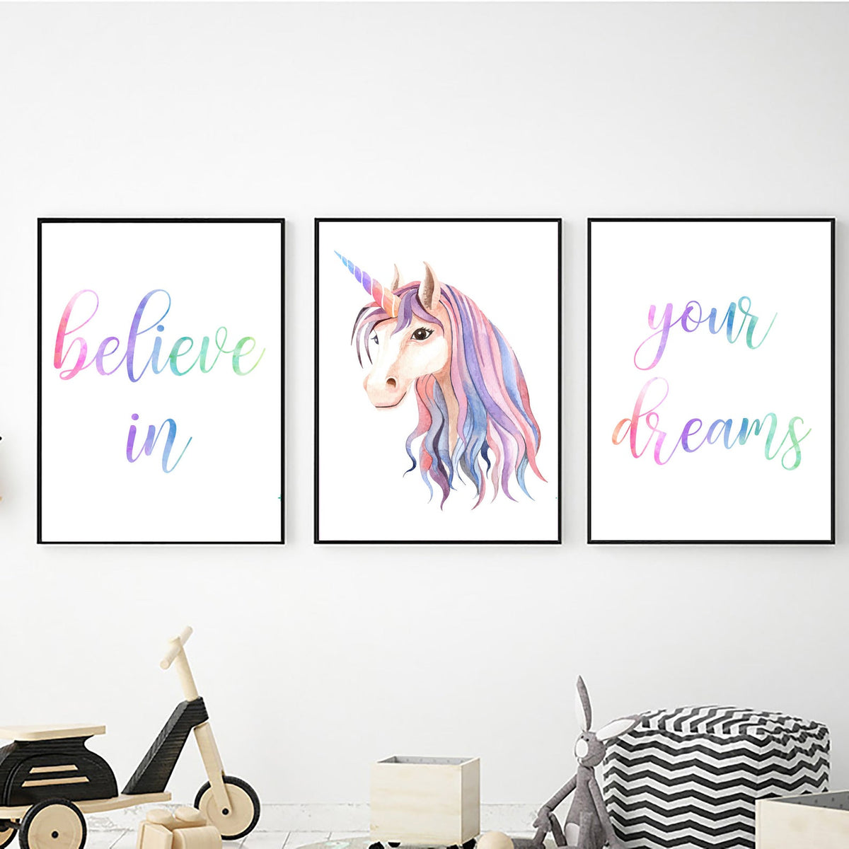 Unicorn Believe in Your Dreams freeshipping - Beautiful Spaces Store