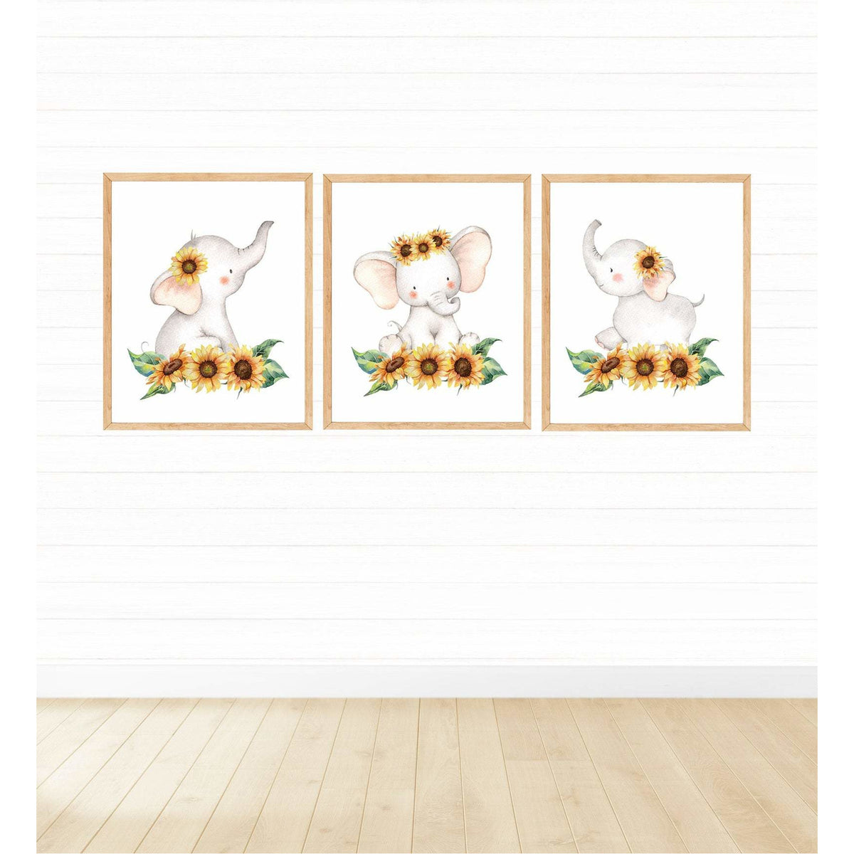 Sunflower Elephants freeshipping - Beautiful Spaces Store