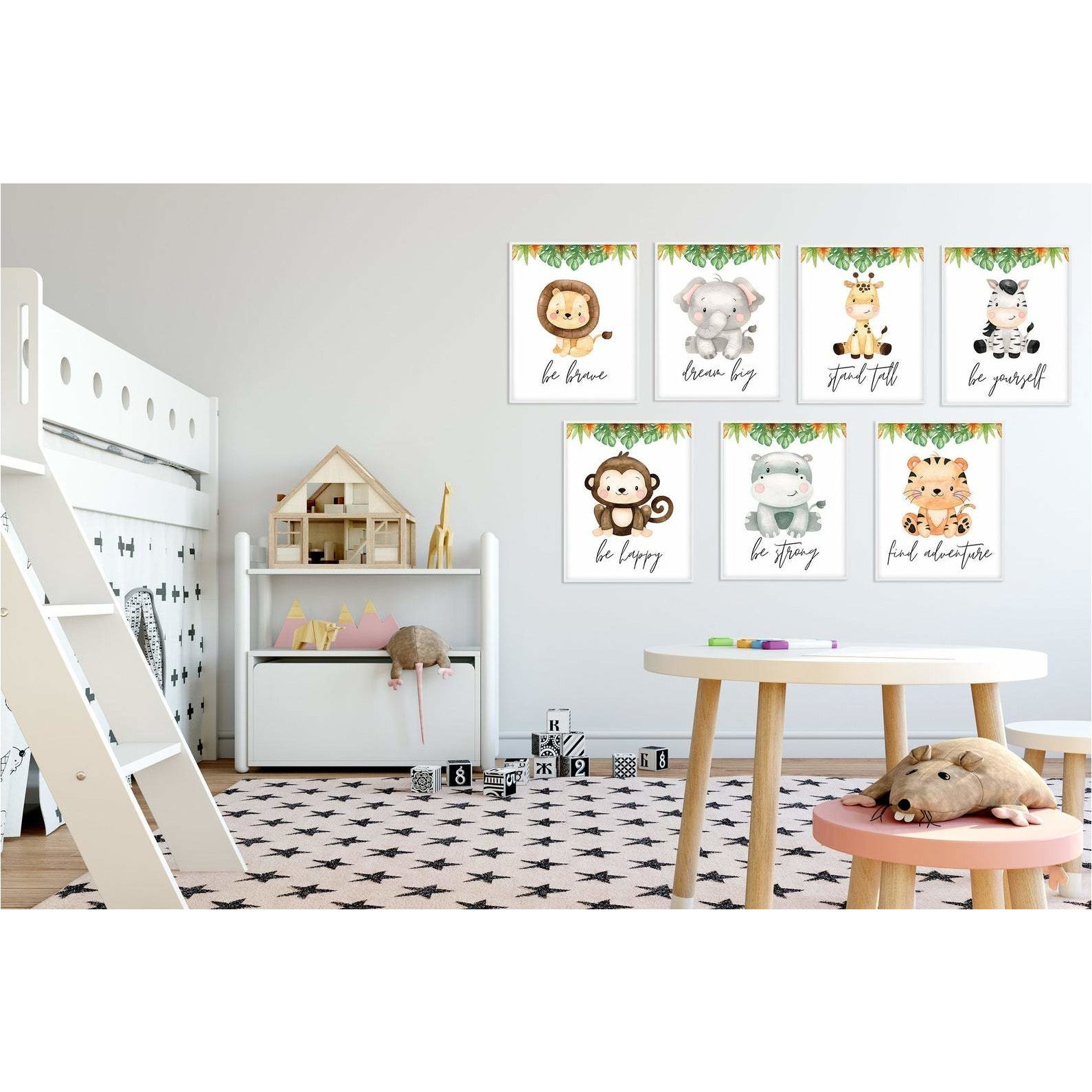 Baby Safari Animals Be Yourself freeshipping - Beautiful Spaces Store