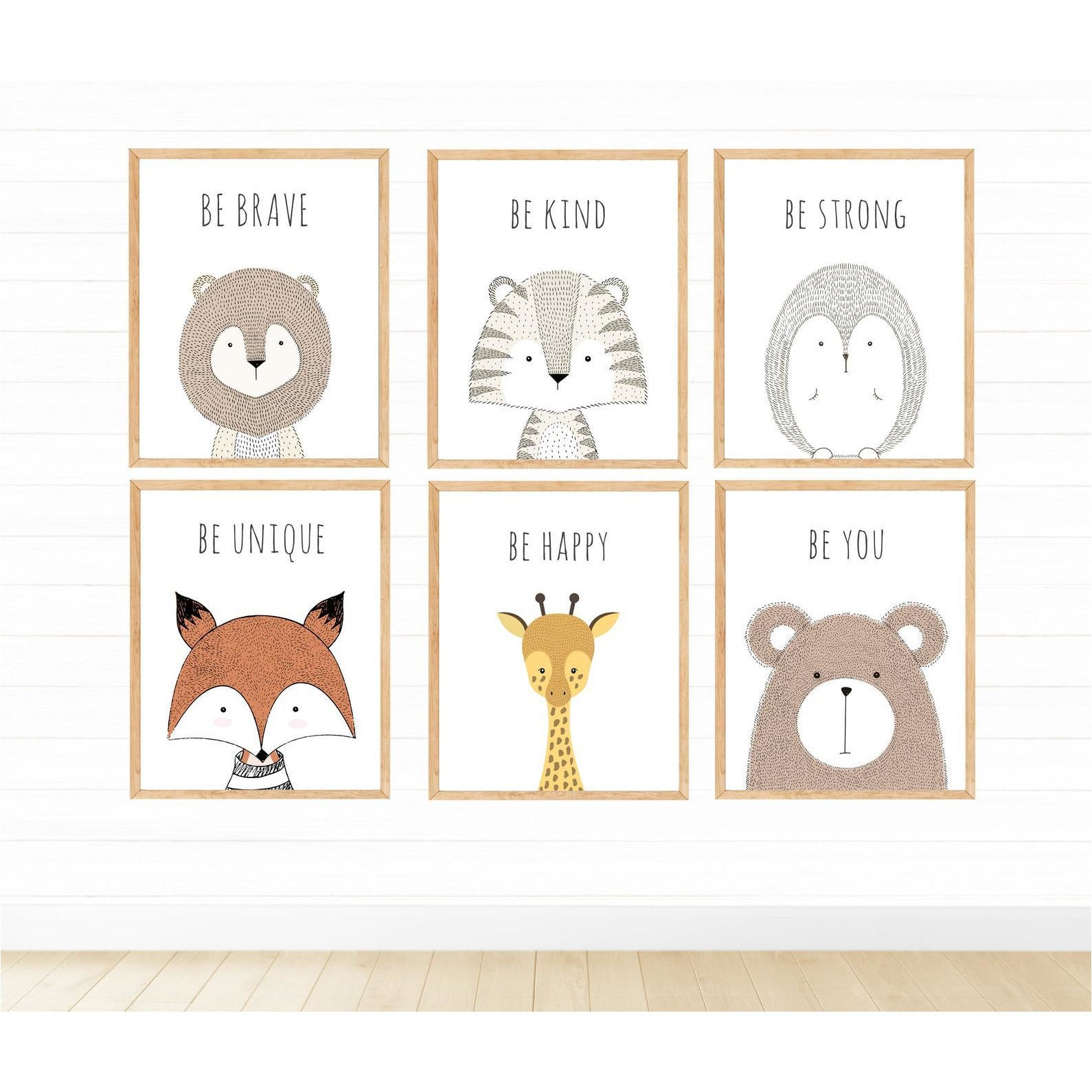 Woodlands Animals Be Brave freeshipping - Beautiful Spaces Store
