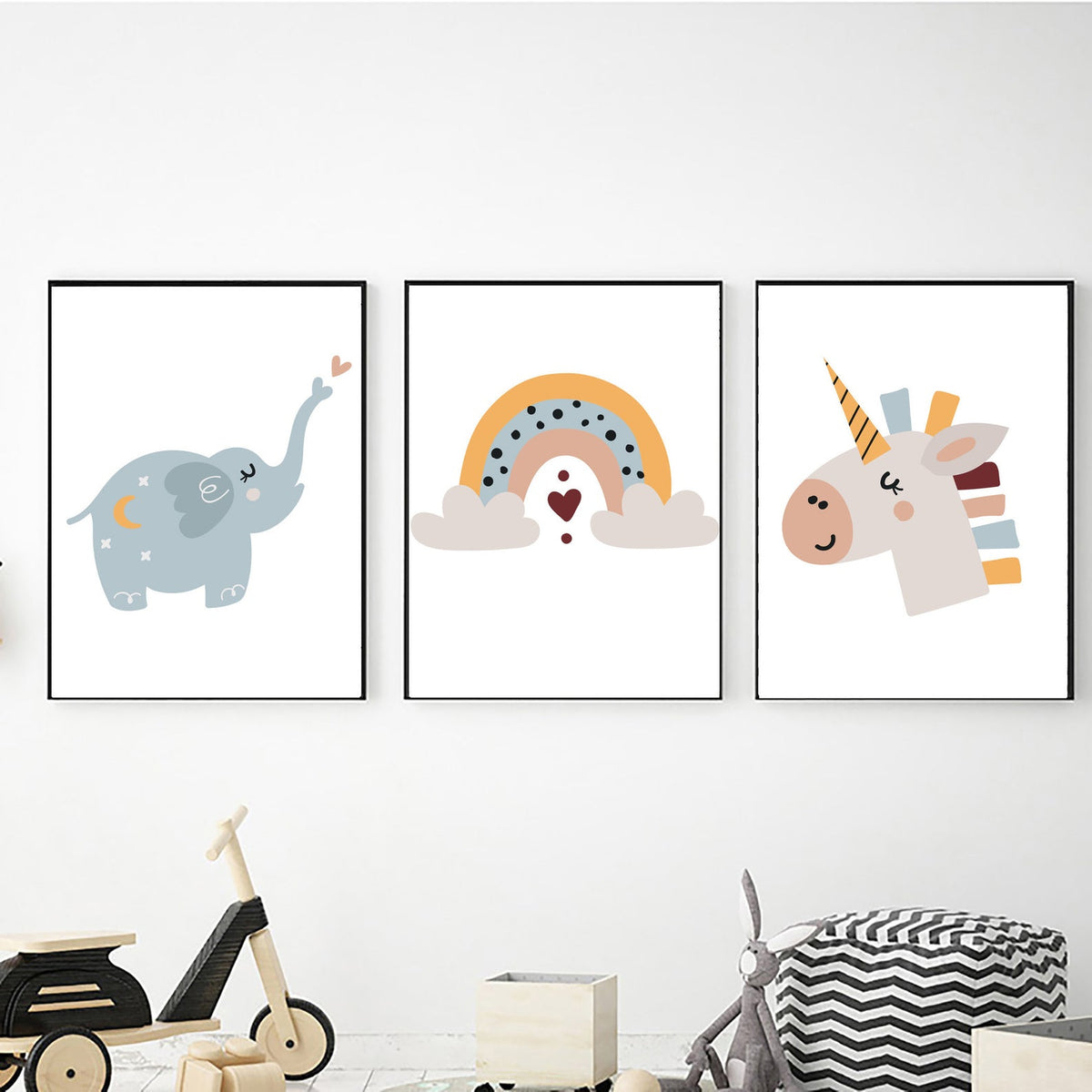 Elephant Rainbow Unicorn freeshipping - Beautiful Spaces Store
