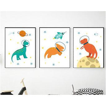 Dinosaurs in Space freeshipping - Beautiful Spaces Store