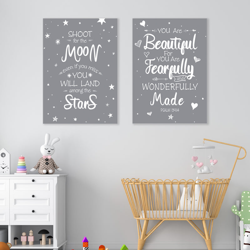 Grey Words - Set of 2 freeshipping - Beautiful Spaces Store