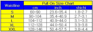 size chart of the Elderly Incontinence Reusable Waterproof Elastic Adult Diapers