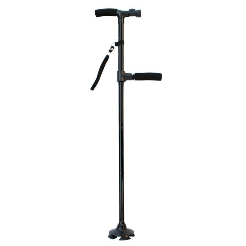 Free Standing Quad Walking Cane (with Light)