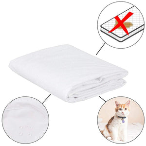 no more stains, pet fur or stains, and water accidents when you put this mattress cover on.