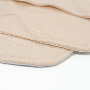 a closer look on the bamboo fabric used to make the Elderly Incontinence Reusable Bamboo Charcoal Sanitary Panty Liner.