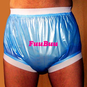 actual product photo of the  Elderly Incontinence Reusable Waterproof Elastic Adult Diapers  in blue