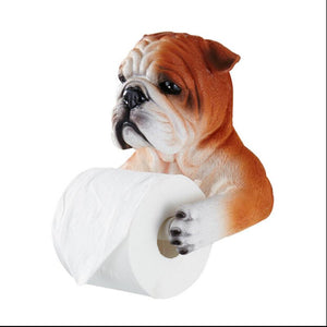 Ceramic Dog Toilet Paper Holder
