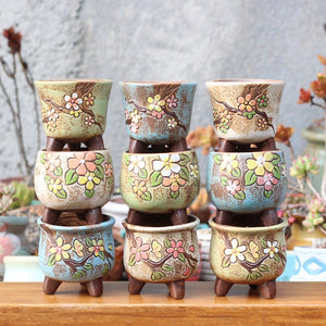 Ceramic Flower Jars