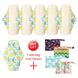5 Pack Elderly Incontinence Reusable Bamboo Charcoal Sanitary Pads