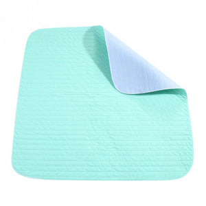 Elderly Incontinence Reusable Waterproof Bed Pad when folded