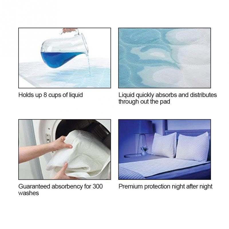 Elderly Incontinence Reusable Waterproof Bed Pad features and specifications.